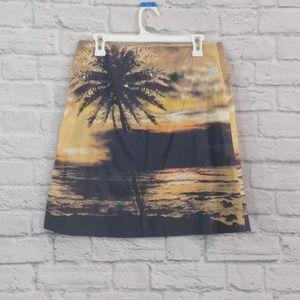HD In Paris | Tropical Palm Skirt Anthropology